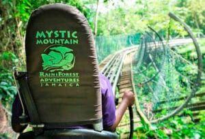 Ziplining Mystic Mountain Jamaica