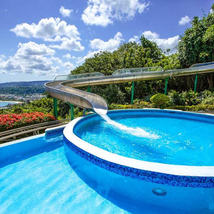 Infinity pool Mystic Mountain Jamaica