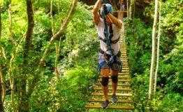 High ropes bridge in Jaco Beach Costa Rica