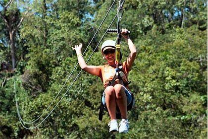 Zipline at Jamaica Mystic Mountain