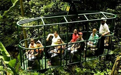 St Lucia aerial tram ride