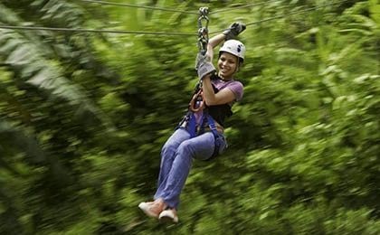 St Lucia canopy zip line